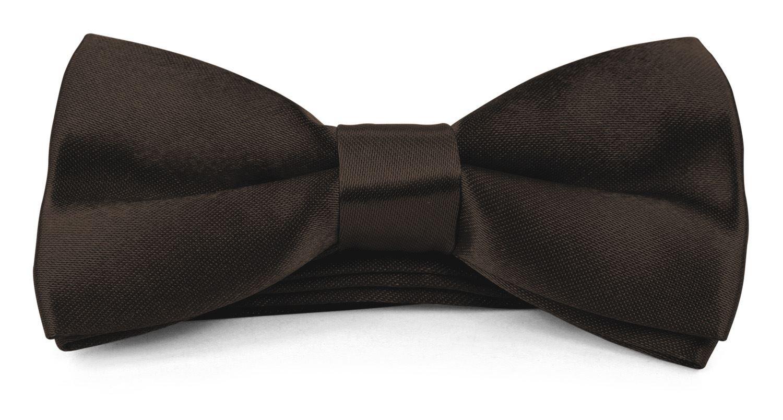 Moda Di Raza - Boys Kids Banded Bow Tie Pre Tied 4x2 Satin Silk BowTies SZ-MDR-BT1200-4X2-Black