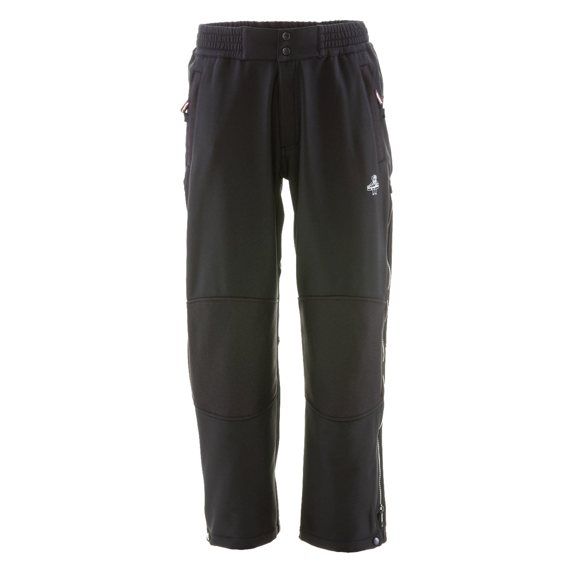 Refrigiwear Men's Water-Resistant Warm Softshell Pants (Black, Medium)