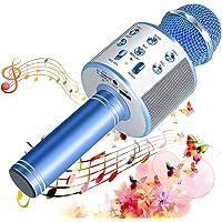SunTop Micrófono Inalámbrico Karaoke Bluetooth, Portátil Altavoces Microfono, LED Microfono Niños para Cantar, Función…