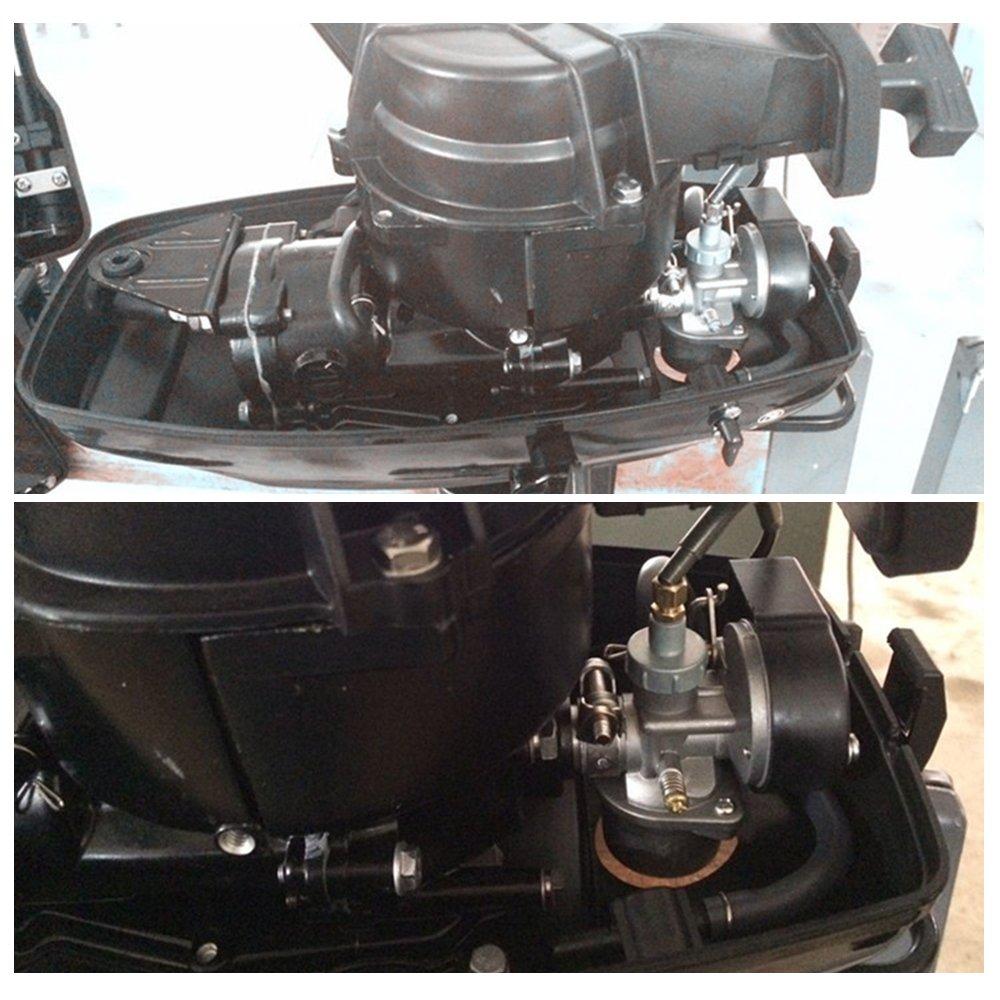 HUKOER 3.5 hp 4HP 2-Stroke Outboard Motor Boat Engine Inflatable Boat Motor