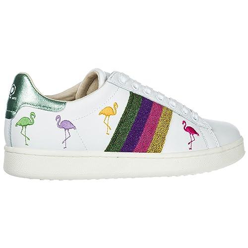 Moa Master of Arts Zapatos Zapatillas de Deporte Mujer en Piel Flamingo bl: Amazon.es: Zapatos y complementos