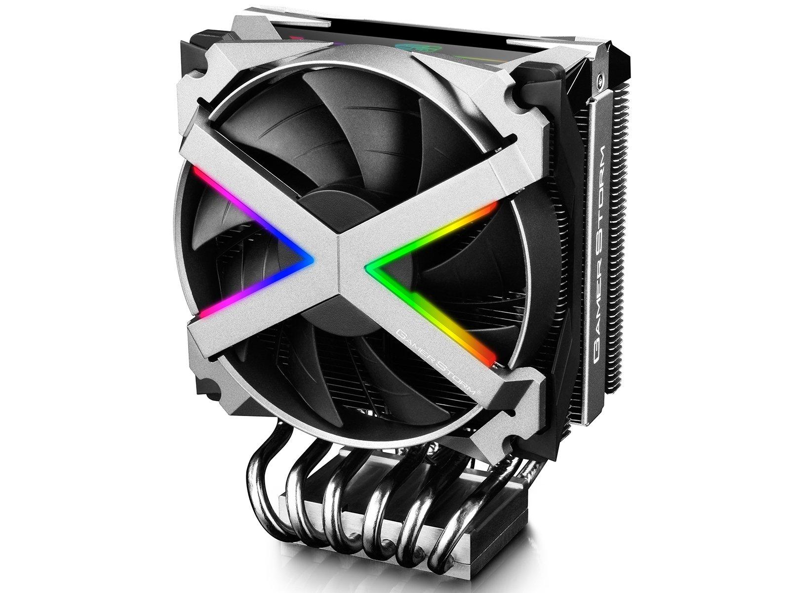 DeepCool Gamer Strom 6 Nickel Plated Heatpipe Metal Frame RGB Fan Add RGB Lighting System Compatible TR4 Perfectly (FRYZEN)