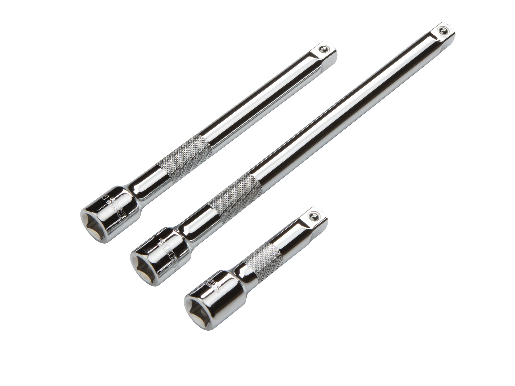 TEKTON 1601 3/8-Inch Drive Extension Bar Set, Cr-V, 3-Piece