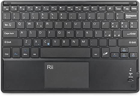 Rii BT11 (con disposición italiana) - Teclado con Bluetooth ...