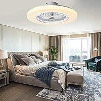Ventilador de techo con iluminación LED, 36 W, ventilador de techo regulable con mando a…