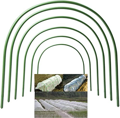 6 PCs Greenhouse Hoops for Plant Cover Support, 19.7 x18.9 Portable Plastic Garden Hoops Grow Tunnel Support Frame for Garden Fabric