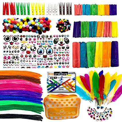 Amazon Com Cre8tivepick Art And Craft Kit For Kids Diy Art Supplies