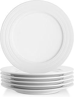 Lifver 10-inch Porcelain Dinner Plates/Serving Platters with Embossed Ring Rim Round\u0026Elegant  sc 1 st  Amazon.com & Amazon.com | AmazonBasics 6-Piece Dinner Plate Set: Dinner Plates