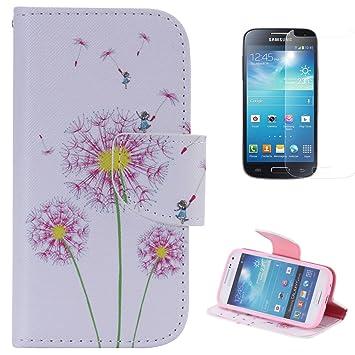 CaseHome Compatible For Samsung Galaxy S4 Mini i9190 Funda de Cuero PU Cierre Magnético Estilo de Libro Característica del Soporte Billetera Caso ...