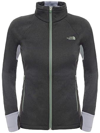 45065f8a3 North Face Women's W Attitude Full Zip EU Fleece Jacket - Grey/TNF ...
