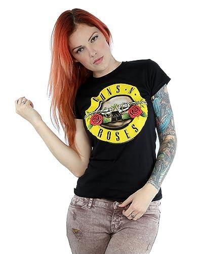 Guns N Roses Donna Bullet Logo Maglietta XX-Large Nero