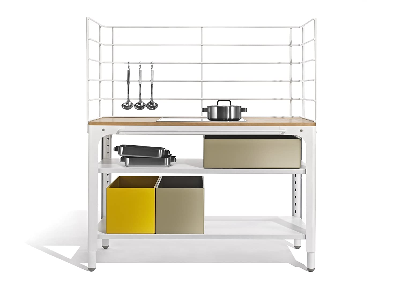 Concept Kitchen Modul als Küchen-Arbeitsbereich (Arbeitsplatte geo grau)