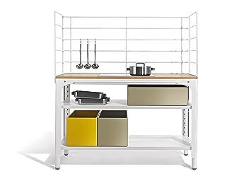 Sommerküche Module : Concept kitchen arbeitsplatte stahlblech silk grey ral 7044 1330 mm