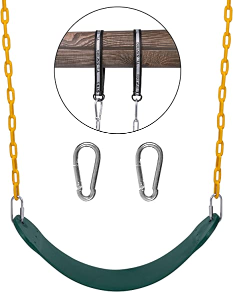 Sunnyglade Swings Seats Heavy Duty with 66 Chain,Playground Swing Set Accessories Replacement with Snap Hooks and Hanging Strap Support 440lb