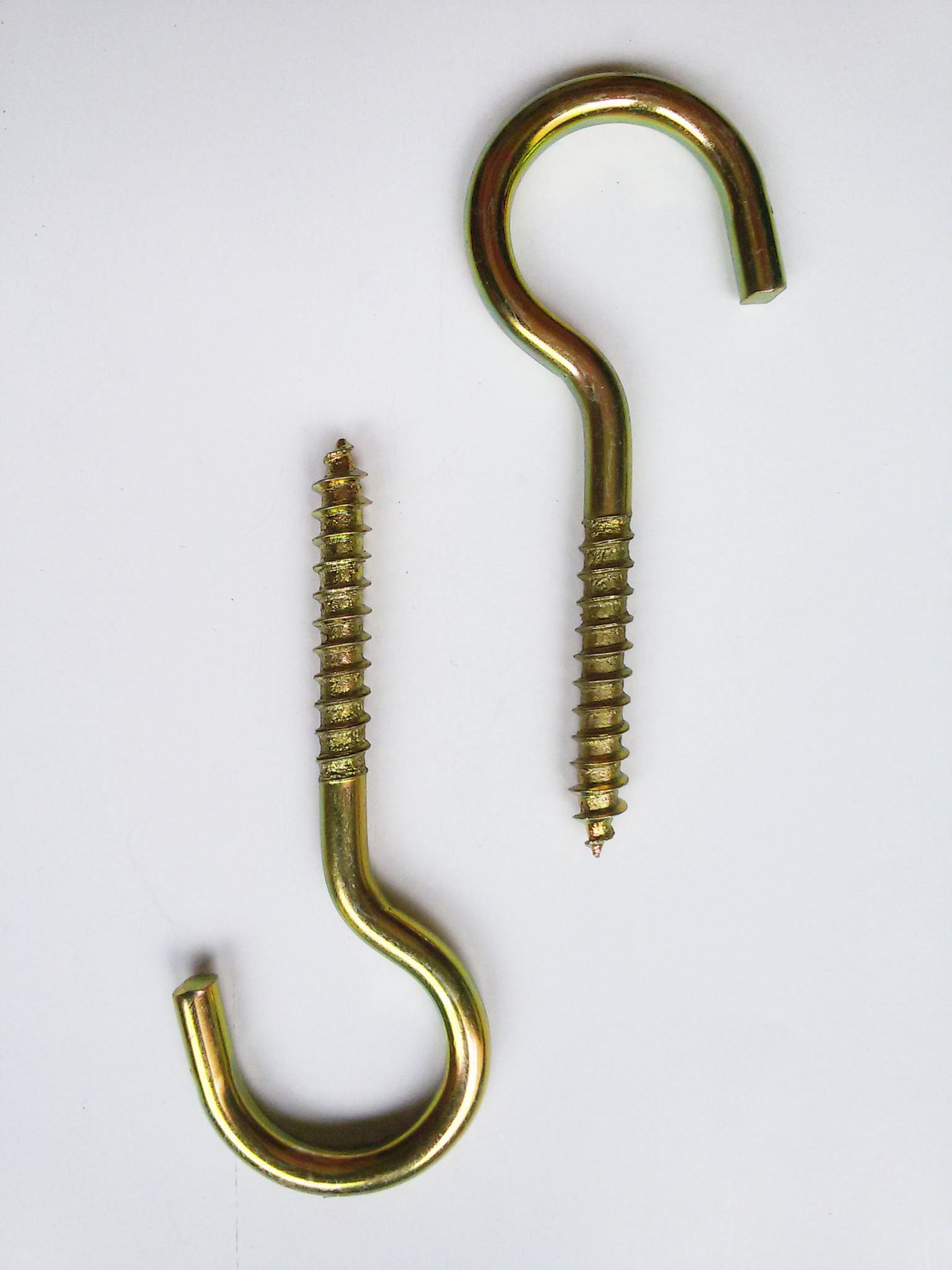 5/16 Inch Lag Eyebolts Thread Eye Screws 10 PCS Zinc Plated Open Shape 50lb