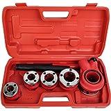 pipe threader hand. comie new ratchet pipe threader kit set ratcheting w/5 stock dies \u0026 handle plumbing hand