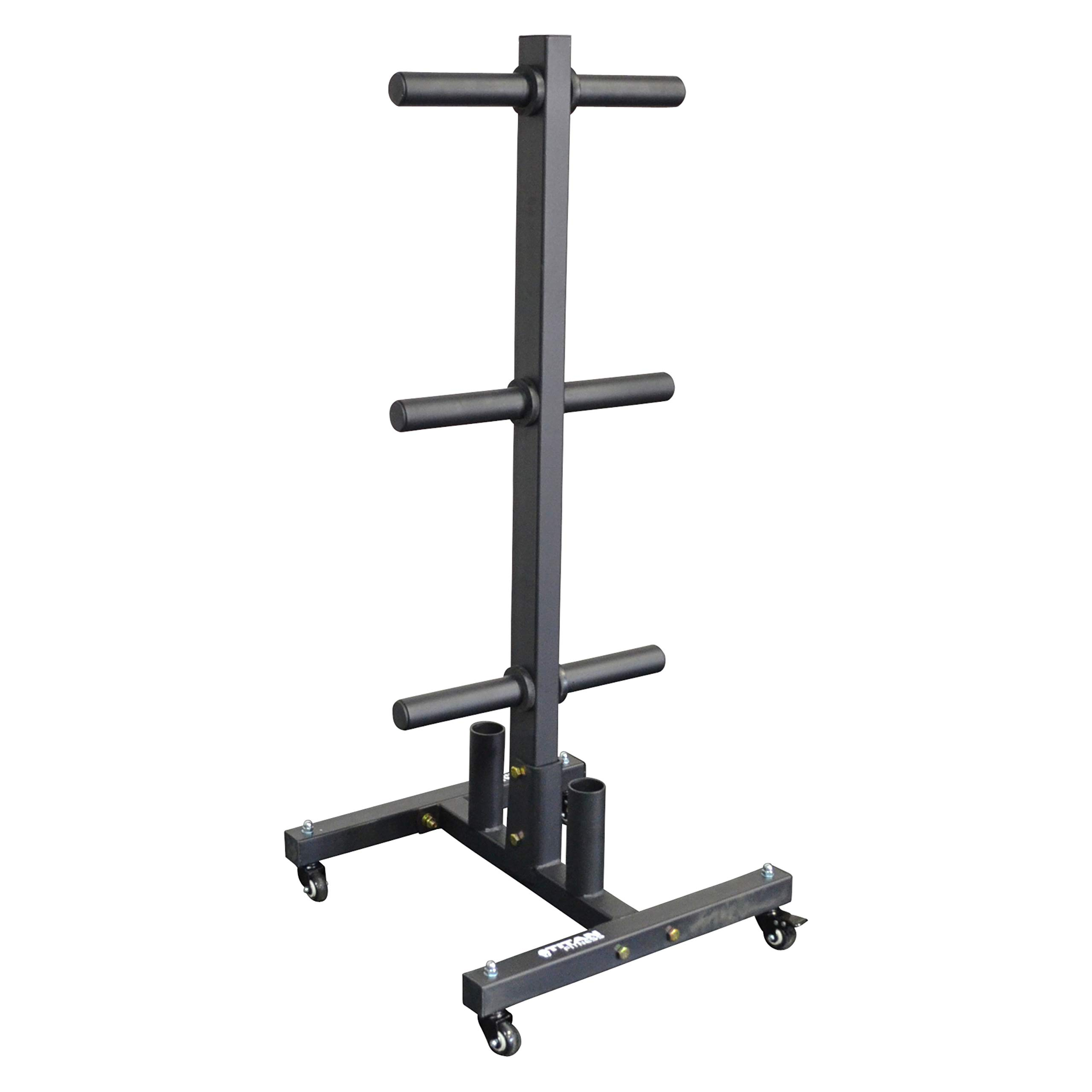 Titan Fitness Portable Plate & Barbell Storage Tree by Titan Distributors Inc.