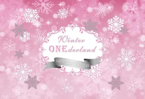 Consumer Electronics Camera & Photo Custom Winter Onederland Pink And Silver Snowflake First Birthday Backgrounds High Quality Computer Print Party Backdrop