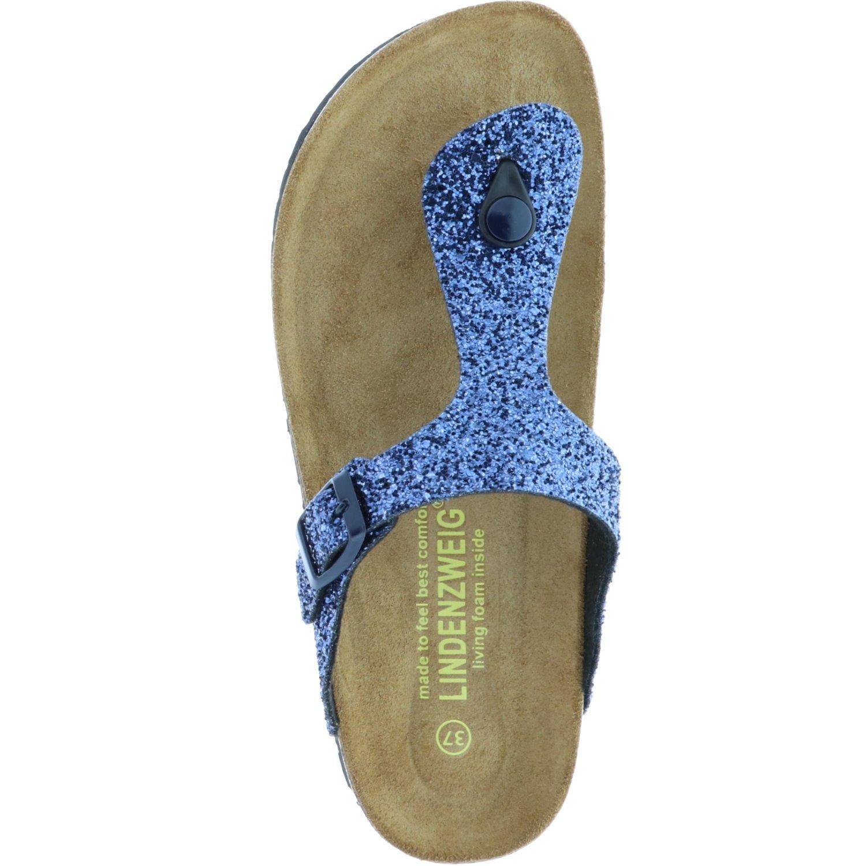 Lindenzweig Damen 55-41001 Pantoletten, Pantoletten, 55-41001 Blau (Blau) 9d6e5a