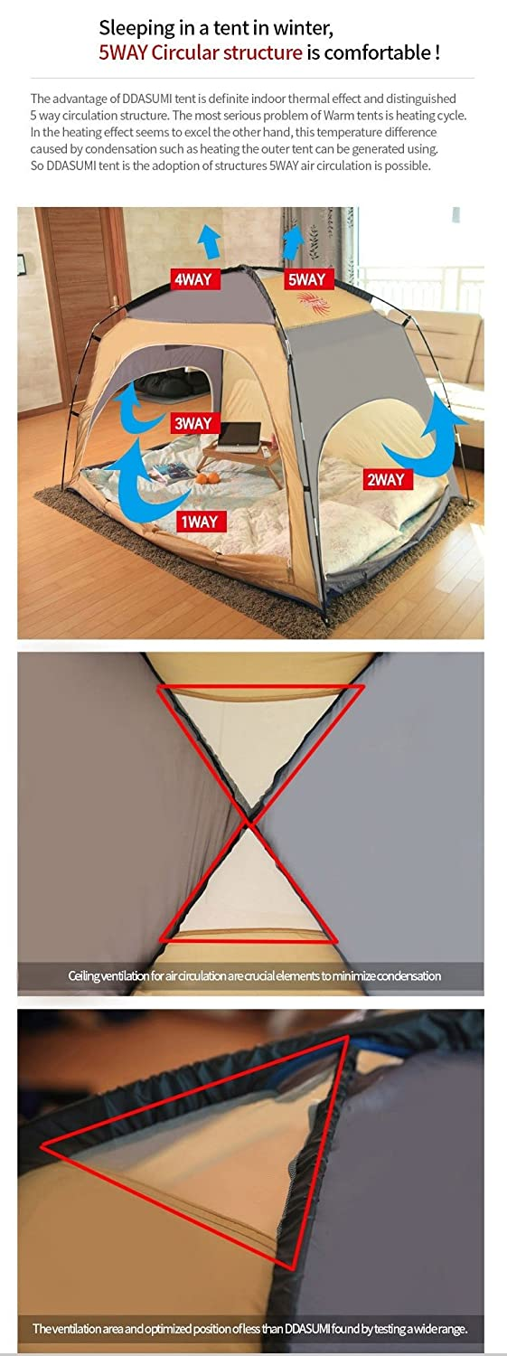 Amazon ddasumi warm tent for double bed without floor mint amazon ddasumi warm tent for double bed without floor mint blocking cold air privacy play indoor tent home kitchen biocorpaavc Images