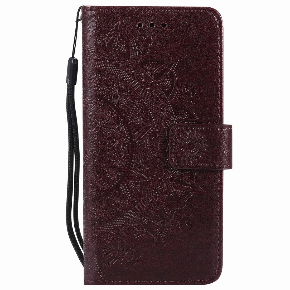 Yiizy Custodie Samsung Galaxy S9+ Cover, Disegno Compass Stile PU Pelle Portafoglio Custodie Cover per G965F Silicone TPU Morbido Porta Carte, Funzione Stand, Magnetica Protettivo (Blu) YI17550