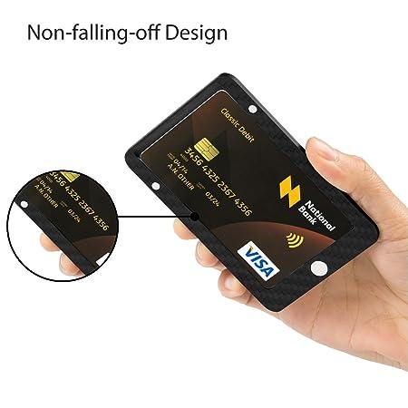 PITAKA Mini Cartera magnética Modular Hecha de Fibra de Carbono, RFID Bloquear, delgadez: Amazon.es: Equipaje