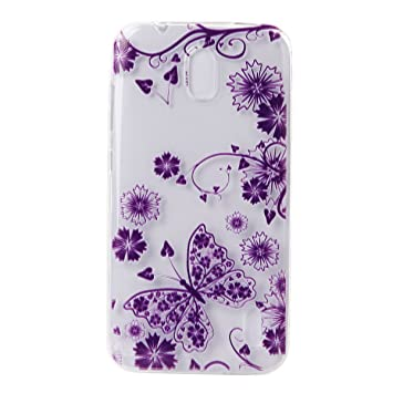 Ecoway TPU Funda Case for Huawei Y625 /Huawei Ascend Y625 , Ultra Thin Carcasa Anti Slip Soft Bumper Scratch Resistant Back Cover Crystal Clear ...