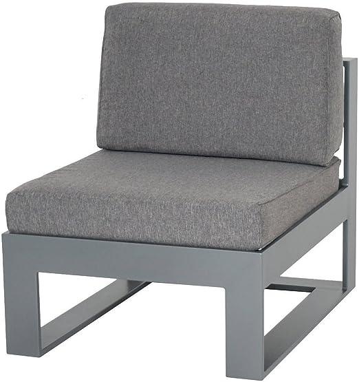 Schlichter Möbel Muebles de Jardín Jardín sofá Lounge sofá Stratos 1er – Medio Element Aluminio: Amazon.es: Jardín