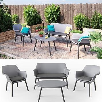 Amazon.de: Gartenmöbel Lounge Set Sitzgarnitur Sitzgruppe ...