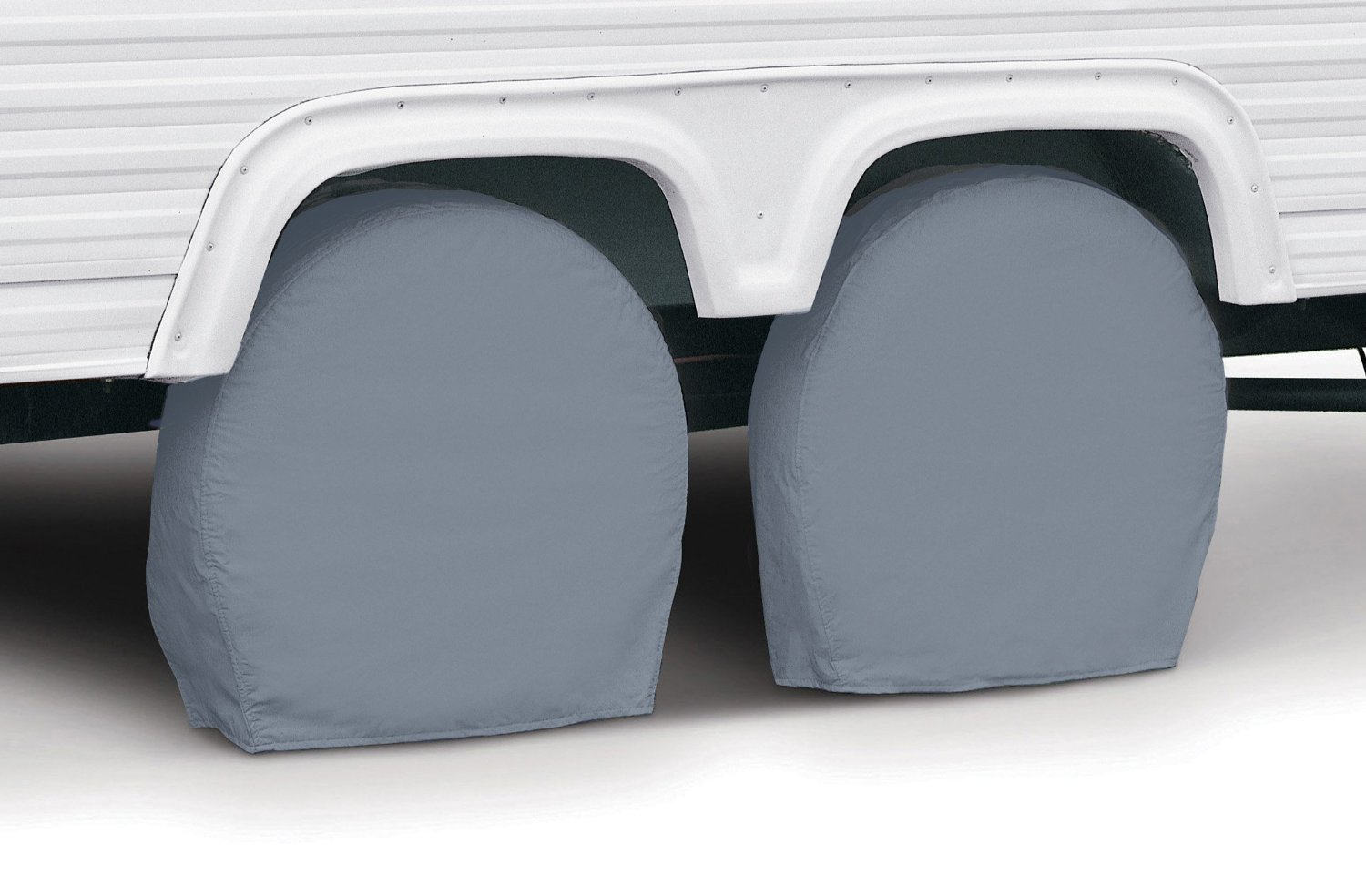 Classic Accessories 80-098-301001-00 RV Wheel Cover, Pair, Grey, 19' - 22' Wheel Diameter 19 - 22 Wheel Diameter