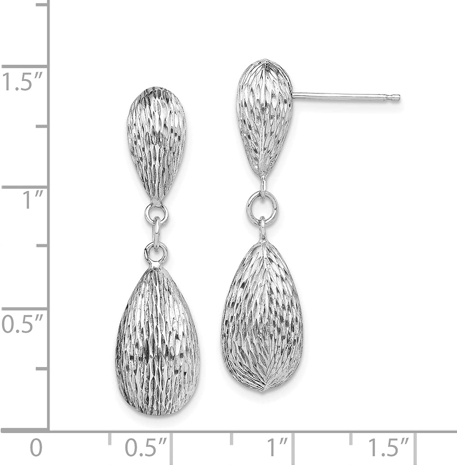 Sterling Silver Tear Drop Dangle Earrings and a pair of 4mm CZ Stud Earrings