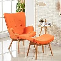Designetsamaison Fauteuil scandinave Orange - Stockholm