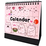 Desk Calendar 2018 2019 Academic Planner Daily Weekly Monthly Yearly Organizer and Goal Journal, Designed To Set Goals and Get Things Done, Cat