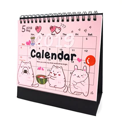 Amazon Com Desk Calendar 2018 2019 Academic Planner Daily Weekly