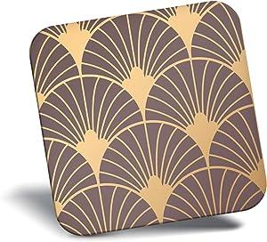 Awesome Fridge Magnet - Gold Art Deco Pattern Vintage Retro 12761