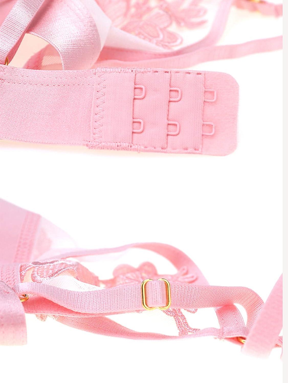 SHEKINI BH Set,Damen Ohne B/ügel BH Set Spitze BH und Slip Triangle Bralette Panty Lingerie Unterw/äsche Dessous Set mit Hakenverschluss und Verstellbare Tr/äger