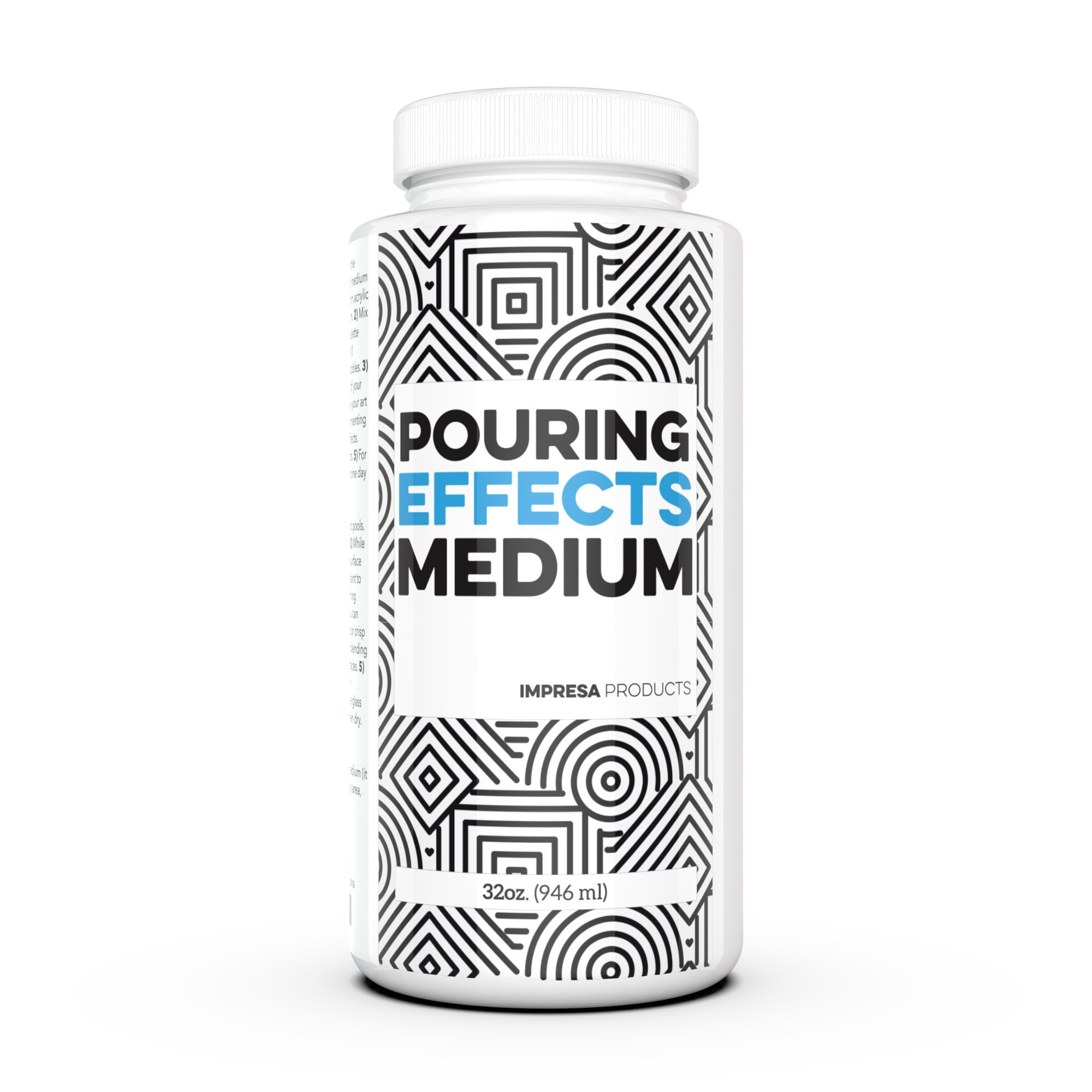 32 oz Acrylic Pouring Medium - Professional Grade - Pouring Effects Medium for Use with Acrylic Paint - Ideal for a Variety of Art Applications - by Impresa Products