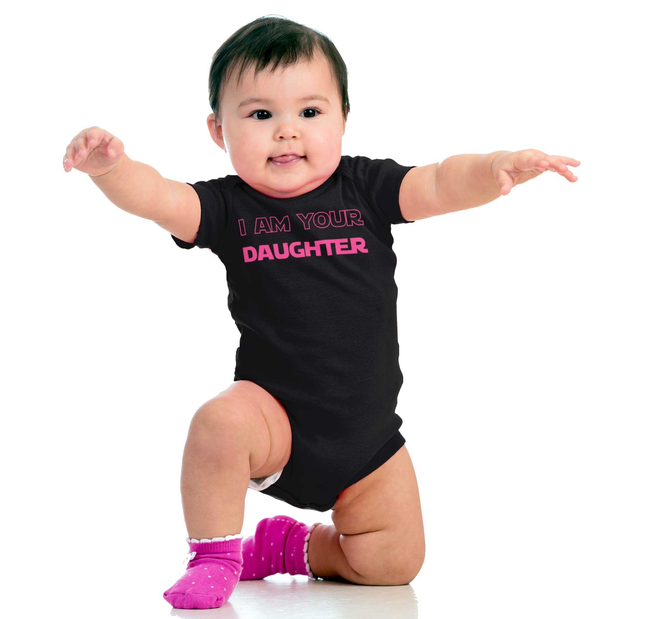 I Am Your Daughter Cute Darth Vader Star Wars Yoda Romper Bodysuit by Brisco Brands (Image #4)