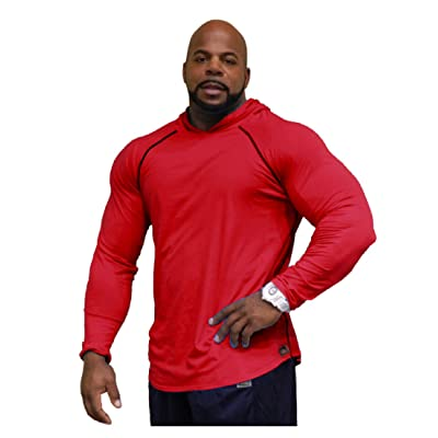 Workout Thin Hoodie Crazee Wear Bodybuilding Red Mens