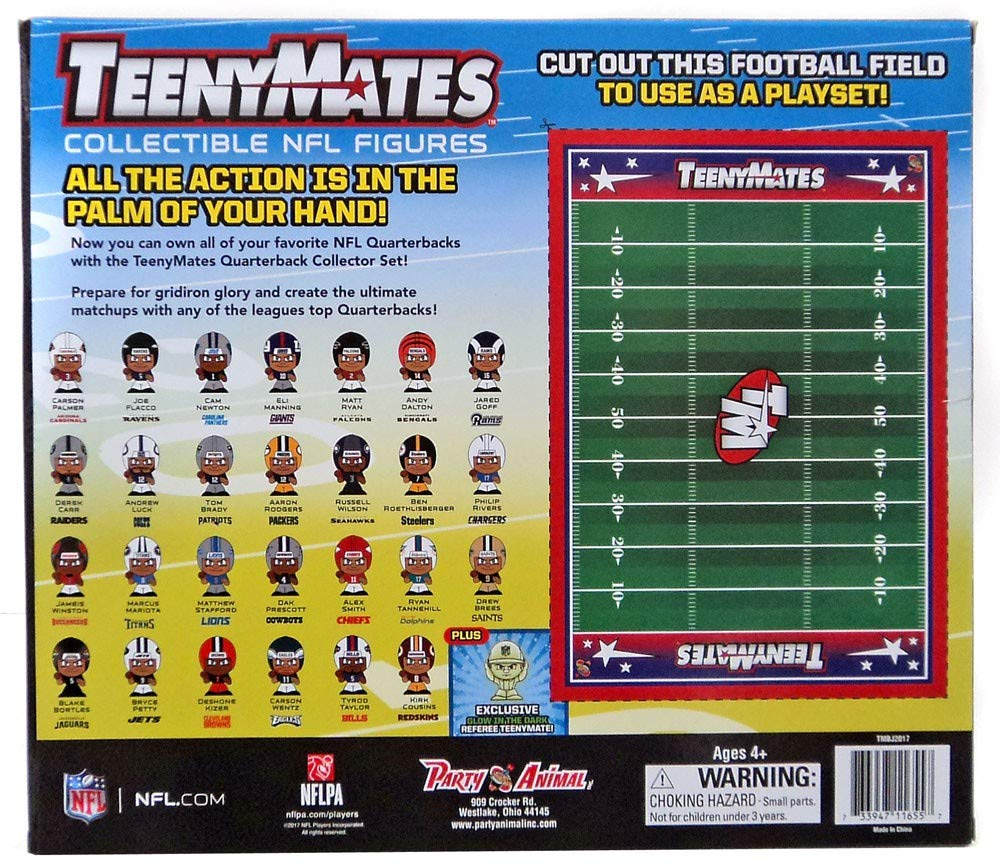 The Party Animal TennyMates Collectible NFL Figures Quaterback Set by Party Animal (Image #2)