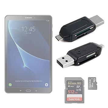 DURAGADGET ¡2 en 1! Lector De Tarjetas SD + MicroSD/T-Flash con OTG para Tablet Samsung Galaxy Tab A 2016 SM-T580/T585 - Conexión USB 2.0 A MicroUSB