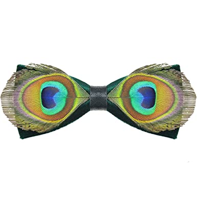 f2841ab98 DeerLand Men's Bow Ties Peacock Feathers Butterfly Pre Ties Eyes ...