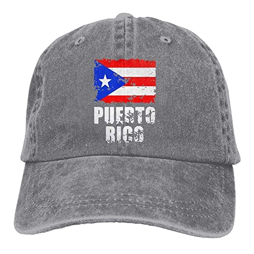 40b217ff955 Unisex Adjustable Cotton Denim Baseball Caps Puerto Rico Flag Dad Hat at  Amazon Men s Clothing store