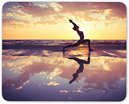 xxc78 Yoga Pilates Peaceful Sunrise Mouse Mat Pad ...