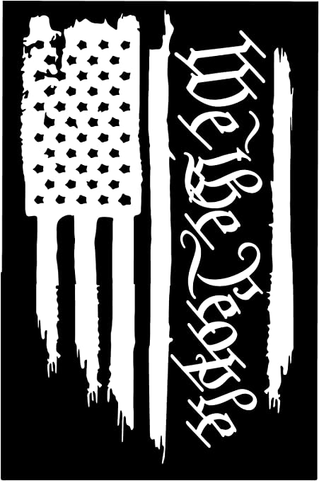 American Flag We The People Die Cut Truck Decal Window Decal Car Decal Sticker