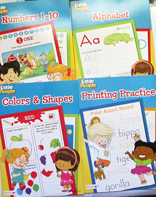 Amazon.com: Alphabet, Colors & Shapes, Numbers 1-10, Printing ...