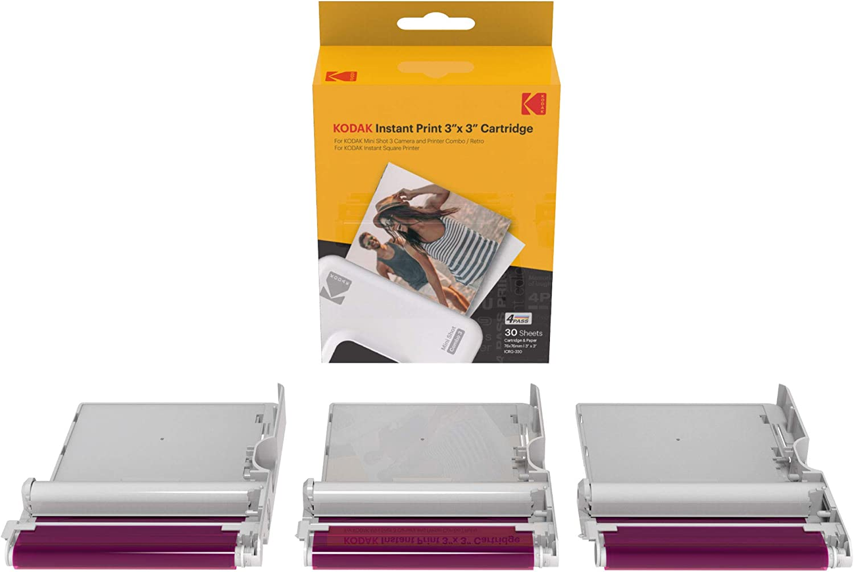 KODAK Instant Print 3'x3' Cartridge 30 Impresiones Mini Shot Combo
