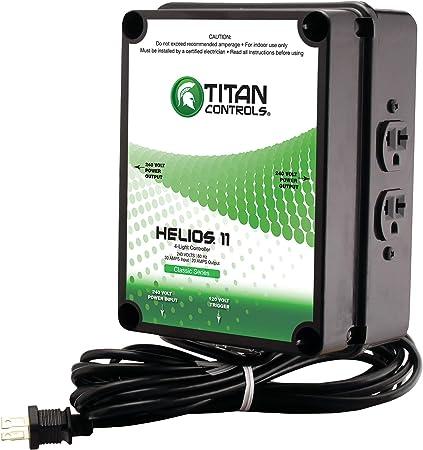 Titan Controls 702820 4-Light Controller w/Trigger Cord, 240V-Helios 11 Smoke-detectors, 4-Light, natural