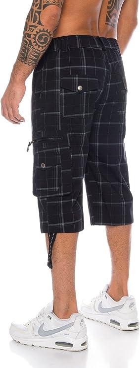 4XL Kendindza Uomo Pantaloni Corti Pantaloncini da Tempo Bermuda Cargo Short-s M