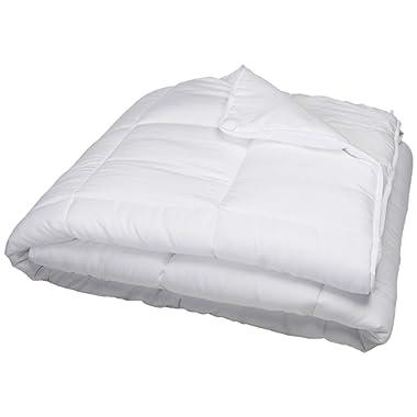 Linenspa All-Season Down Alternative Quilted Comforter - Hypoallergenic - Plush Microfiber Fill - Machine Washable - Duvet Insert or Stand-Alone Comforter - White - Oversized King